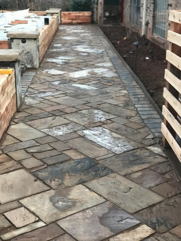 cut stone path
