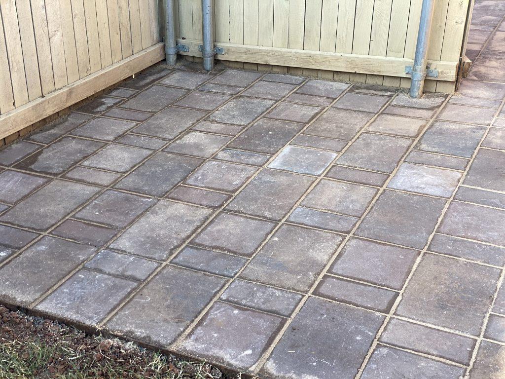 stone paver patio