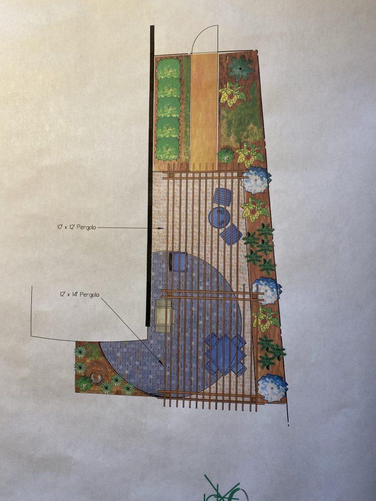 drawing plan for pergola